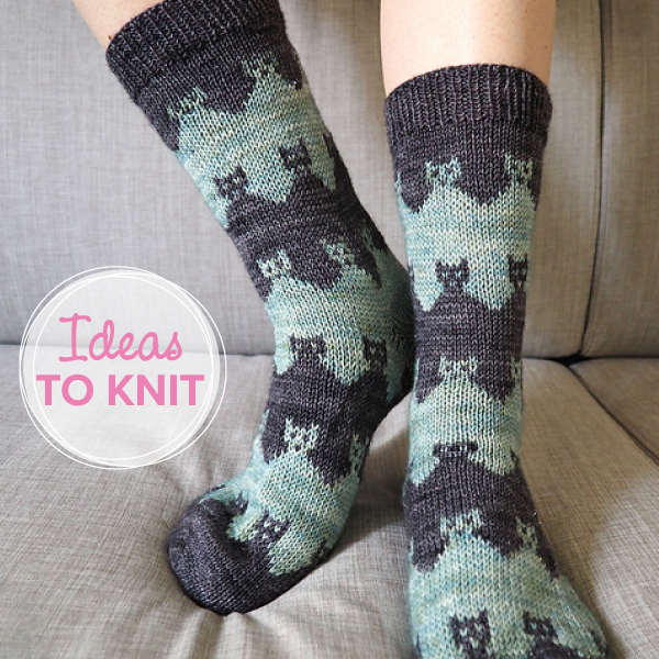 Praire Cat Socks  designed by Solène Le Roux on Ravelry