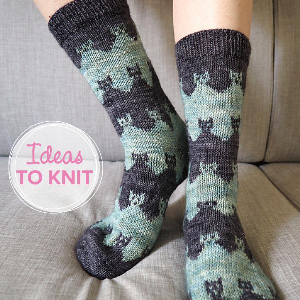 Praire Cat Socks  designed by Solène Le Roux on Ravelry