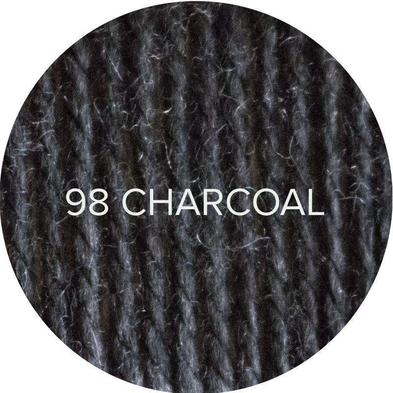 Fluffy Fingering merino yarn in Charcoal