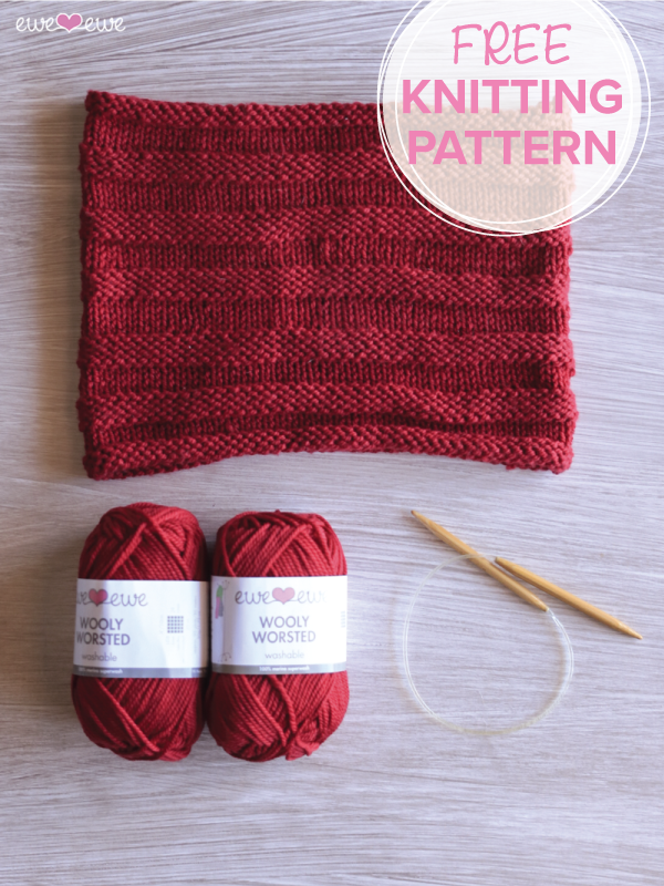 Cold Front Cowl {FREE knitting pattern} by Ewe Ewe Yarns