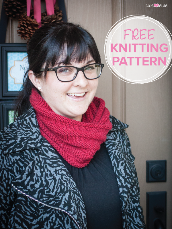 Cold Front Cowl  free knitting pattern in Wooly Worsted yarn by Ewe Ewe Yarns