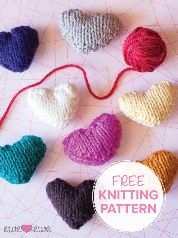 Ewe Ewe Heart Heart free knitting pattern from Ewe Ewe Yarns