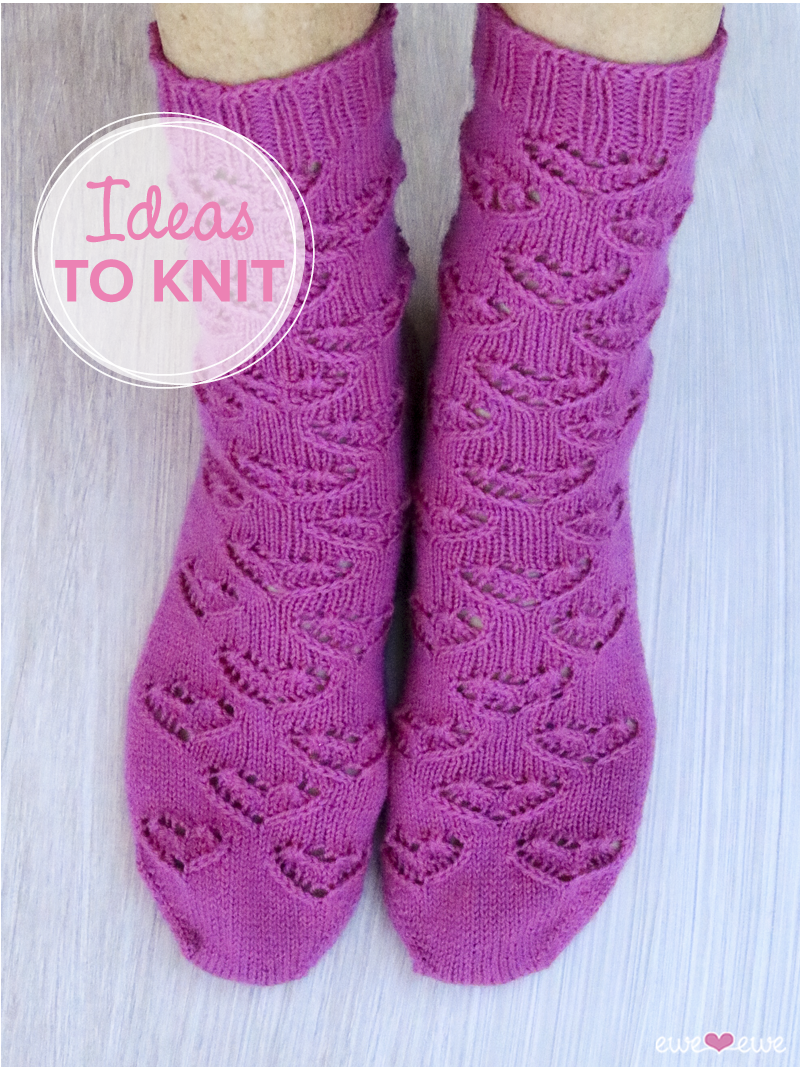 Ewe Heart Socks  by Meaghan Schmaltz for Ewe Ewe Yarns