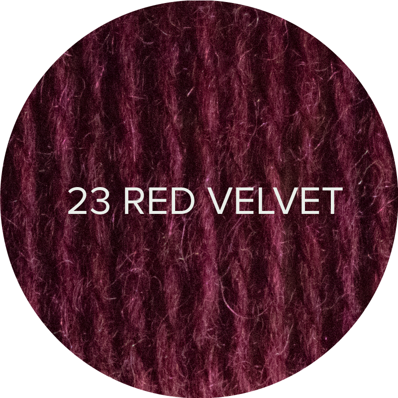 Fluffy Fingering merino sock yarn in 23 Red Velvet