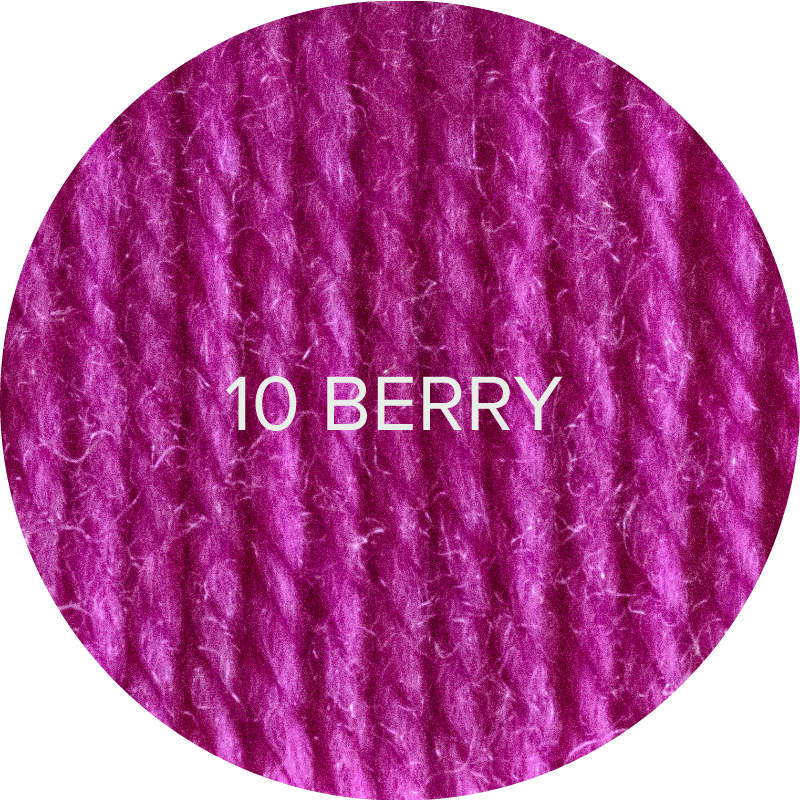 Fluffy Fingering merino sock yarn in color 10 Berry