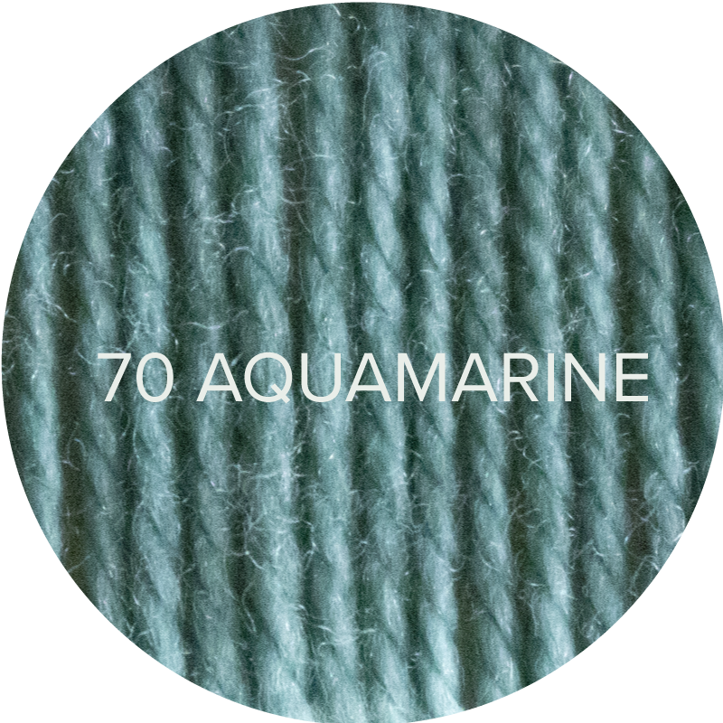 Fluffy Fingering merino sock yarn in 70 Aquamarine