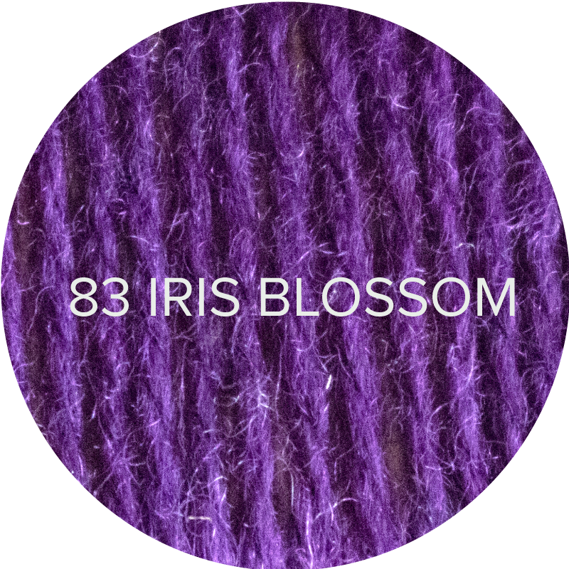 Fluffy Fingering merino sock yarn in 83 Iris Blossom