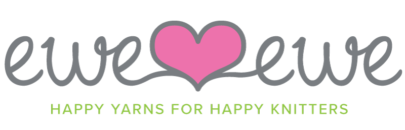 Ewe Ewe Yarns logo with heart