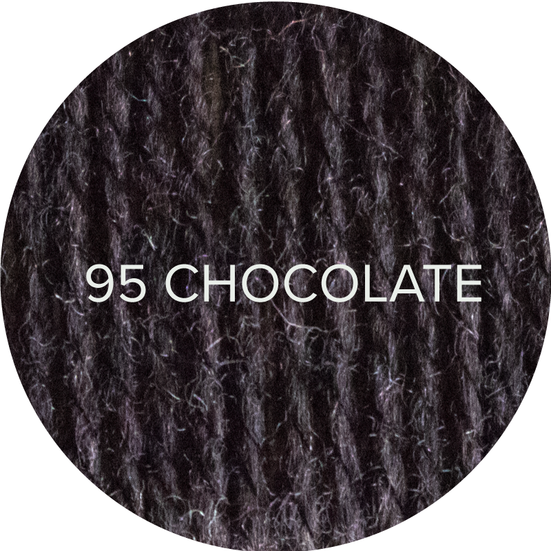 Wooly Worsted yarn in Chocolate