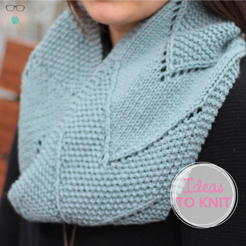 Split the Distance  cowl knitting pattern