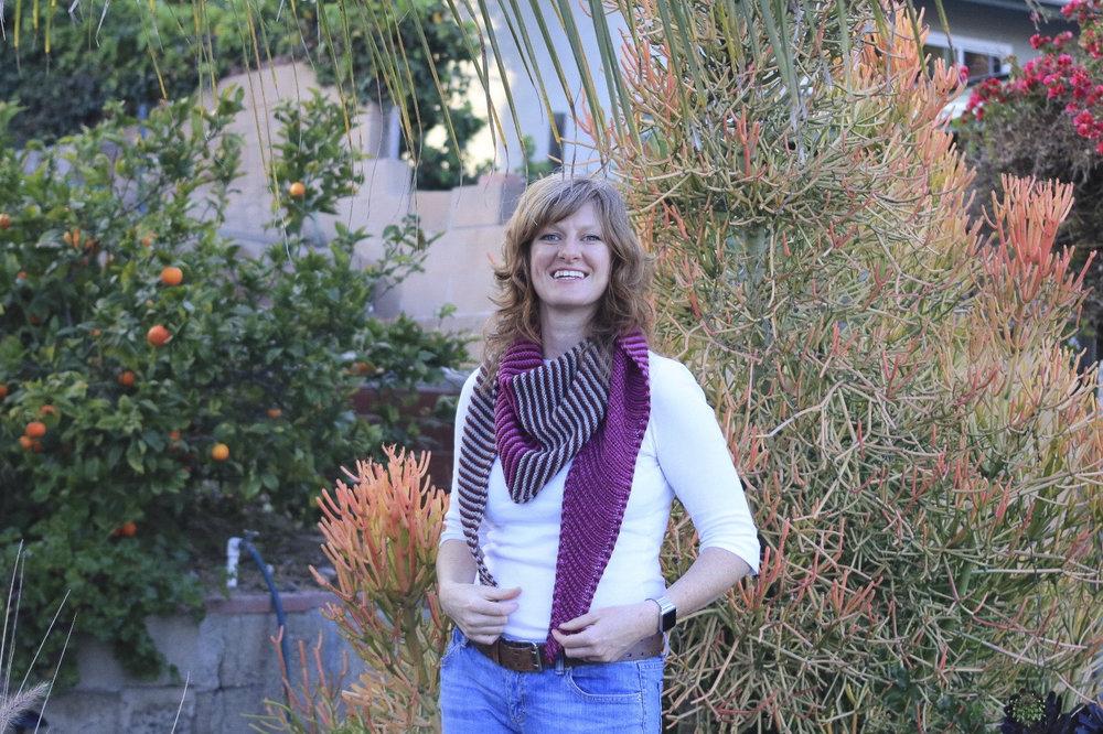 Something About Phoenix  shawl knitting pattern designed by Heather Walpole