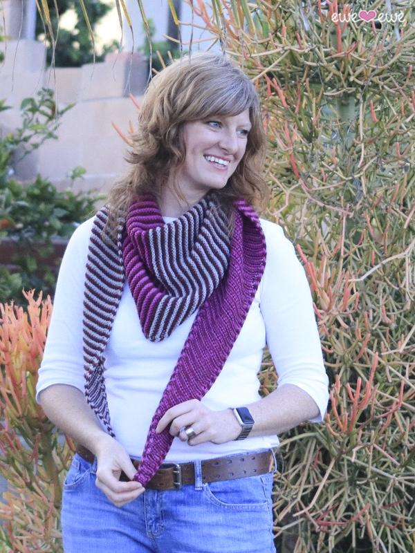 Something About Phoenix LYS Day shawl pattern by Heather Walpole for Ewe Ewe Yarns