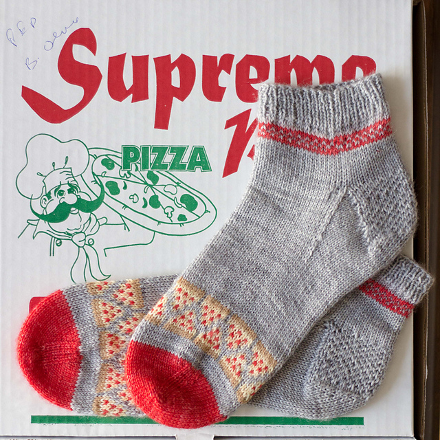 Pizza Party Socks  knitting pattern on Ravelry