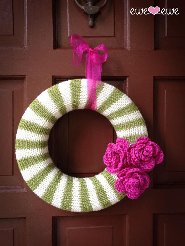 Year Round Wreath Pdf Knitting Pattern Ewe Ewe Yarns