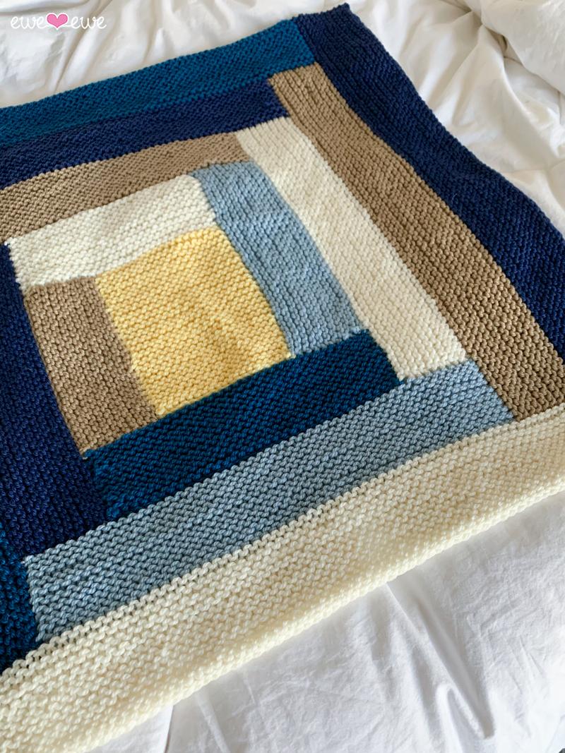 Cuddle Up Log Cabin Baby Blanket Pdf Knitting Pattern Ewe Ewe Yarns