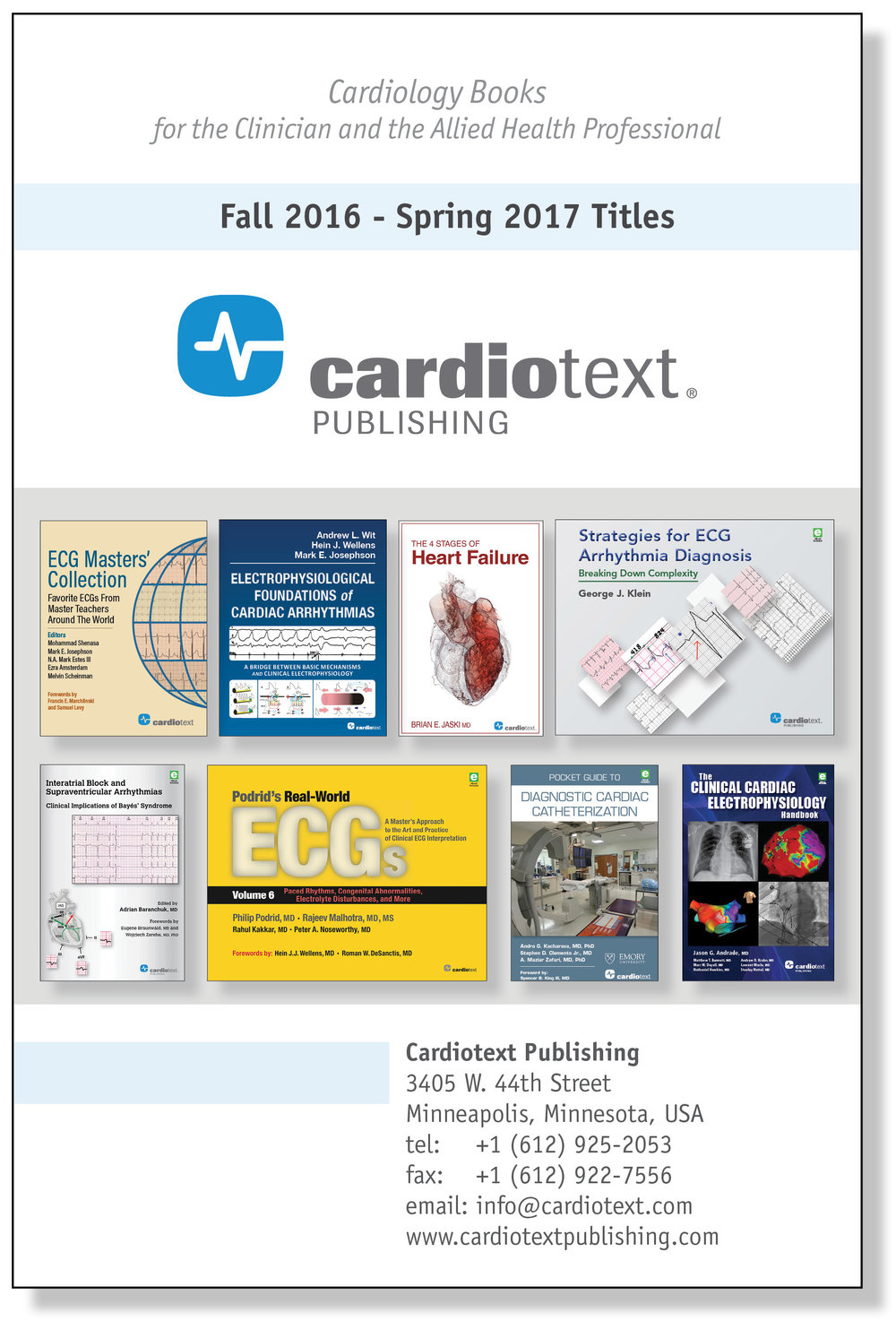 Cardiotext Publishing Fall/Winter 2016-2017 Catalog [PDF]