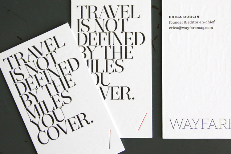 Wayfare business cards just vandy a letterpress studio reheart Image collections