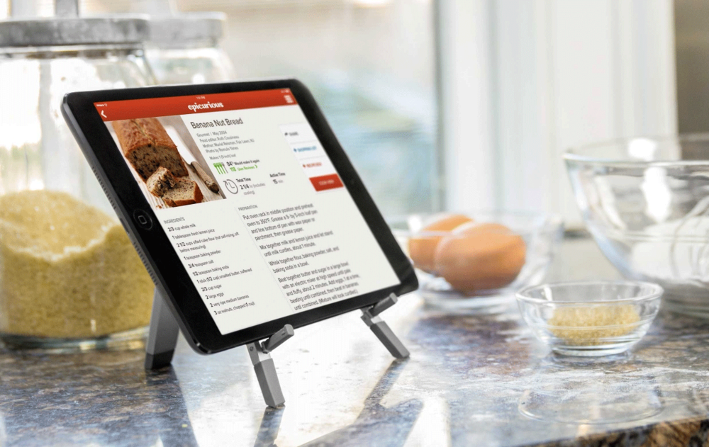 Compass keeps your iPad off the counter and away from spills and messes