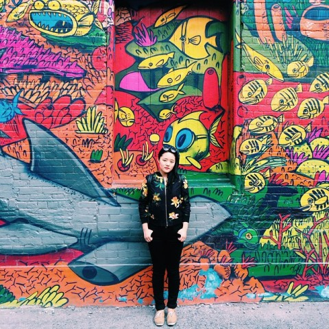Photo: Courtesy of Carolyn Huang / @carolynhuang1    Mural by Uber5000