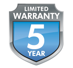 LaCie 5-year warranty