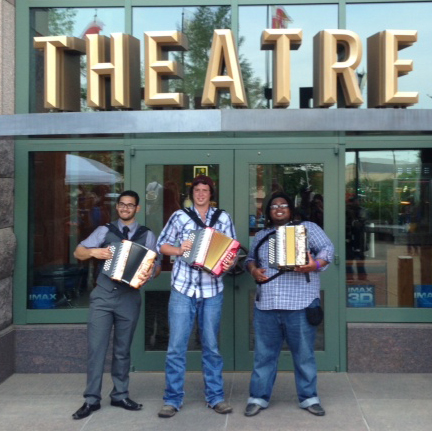 Big Squeeze Grand Prize Winners:  Aaron Salinas in the Conjunto Category (San Antonio) Garrett Neubauer in the Polka Category (Altair) Randall Jackson in the Zydeco Category (Dallas)