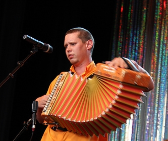 Performing at 2014 Accordion Kings & Queens Festival