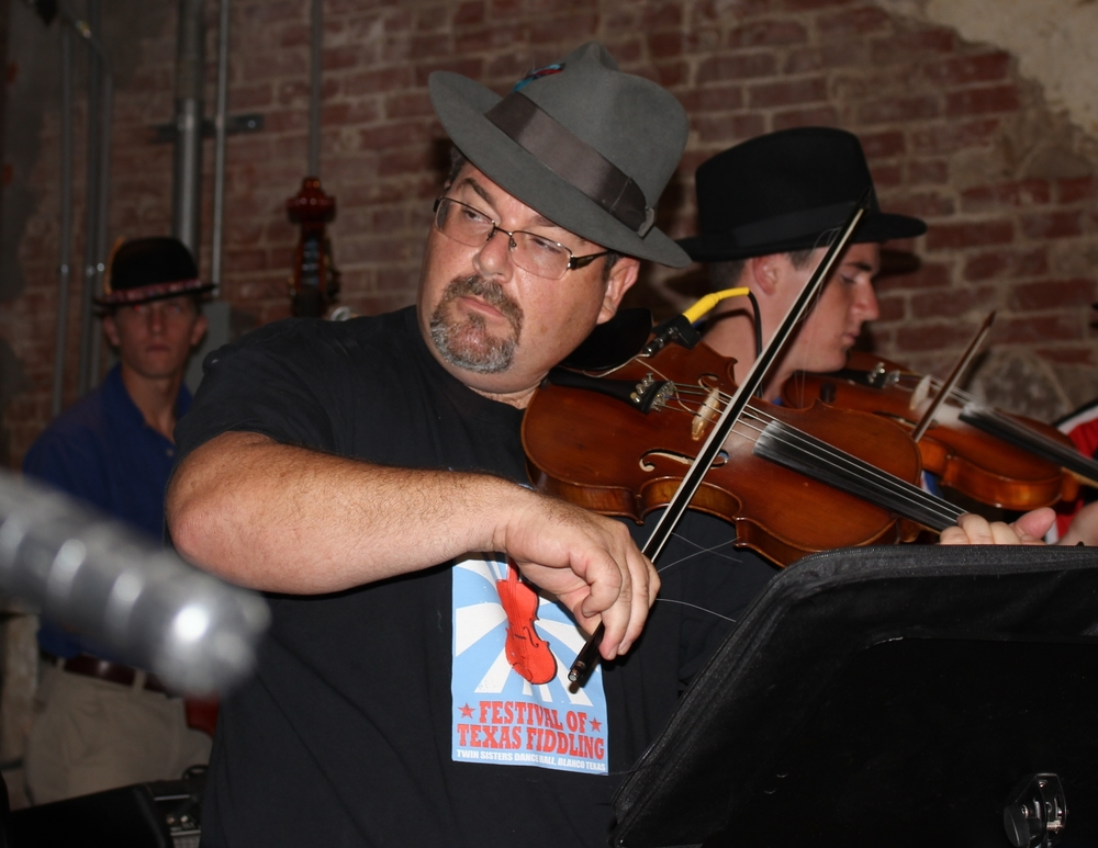 Brian Marshall, shown here at Bremond Polish Days on June 27, 2015, will lead a workshop at the 2nd Annual Festival of Texas Fiddling on Nov. 7, 2015./Gary E. McKee photo