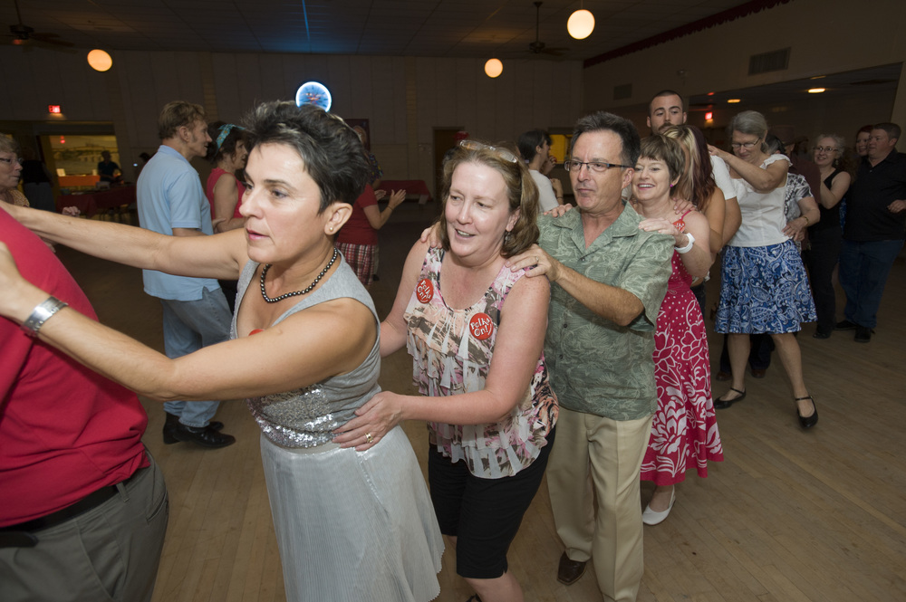 Conga line at Polka for Pets/Mark Hiebert photo