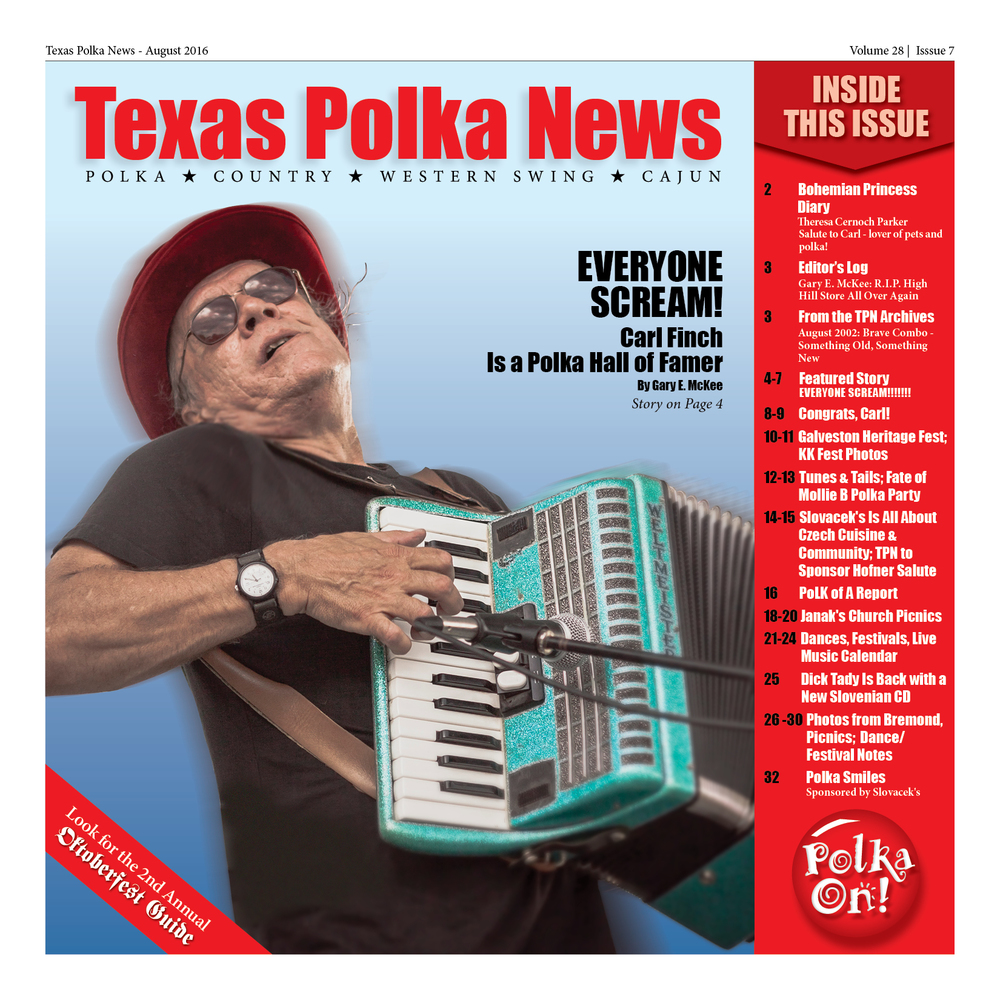 Gary E. McKee's article appears in the August issue of Texas Polka News.