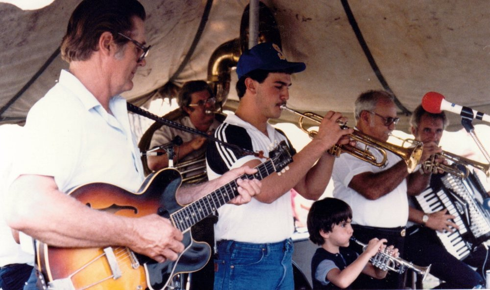 Playing in dad's band