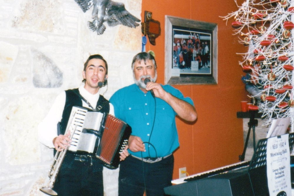 Singing with dad mid 1990s