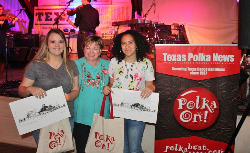 Alysson Hoffmann, TPN Publisher Theresa Parker, Alyssa Hayden at Nov. 12 dance hall fundraiser