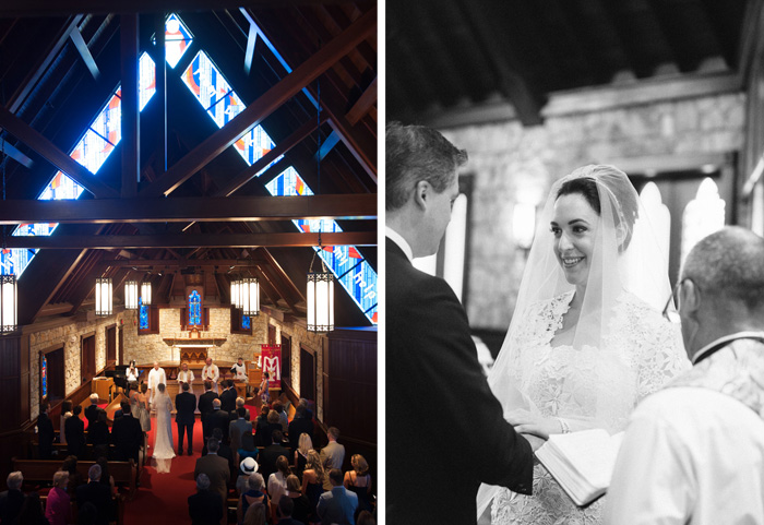 The picturesque church proved to be the ideal location for the wedding ceremony.