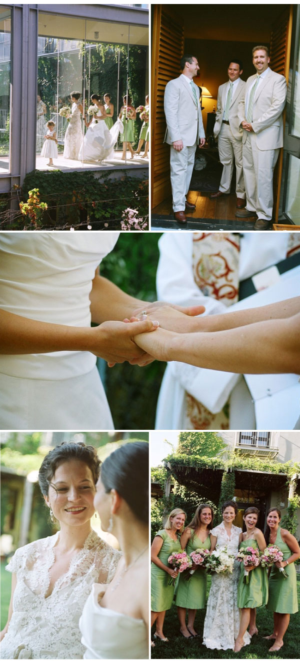 sylvie-gil-film-photography-wedding-style-me-pretty-same-sex-wedding-flowers-lace-dress-ceremony