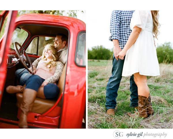 sylvie-gil-film-photography-portrait-engagement-outdoor-red-chevrolet