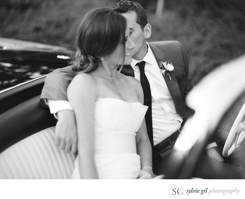 sylvie-gil-film-photography-wedding-car-bride-groom-black-white