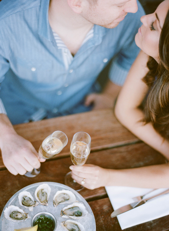 Sylvie-Gil-Engagement-Film-Photography-Session-Oysters-Champagne