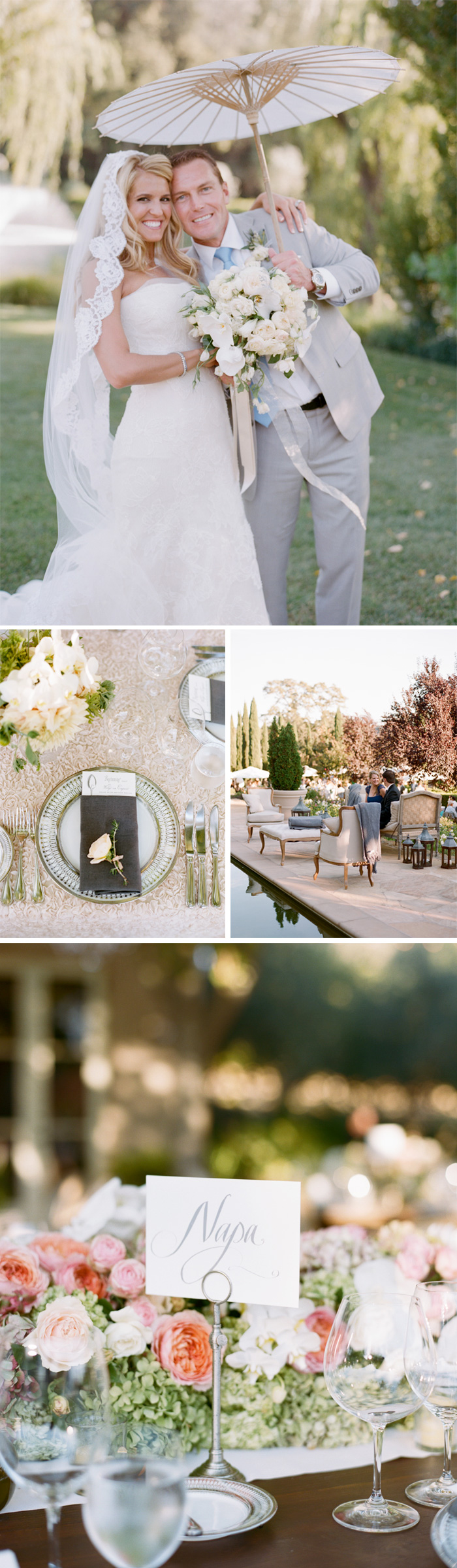 SylvieGIl-Film-Wedding-Photography-Black-Swan-Lake-Napa-Sonoma-California-Flowers-Table-Pool-reception-Place-Setting