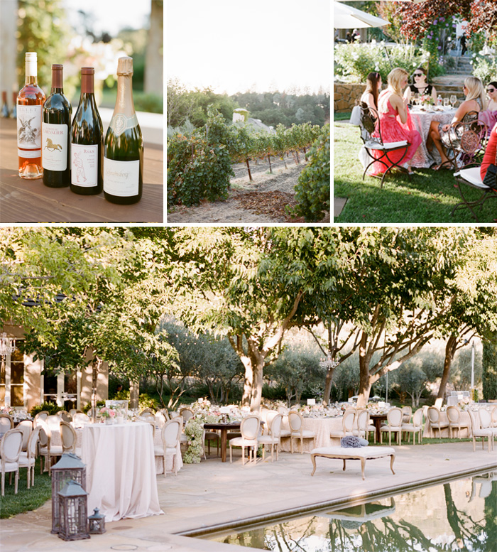 SylvieGIl-Film-Wedding-Photography-Black-Swan-Lake-Napa-Sonoma-California-Flowers-Outdoor-Cocktails-Reception-Swimming -Pool-Wine-Winery-