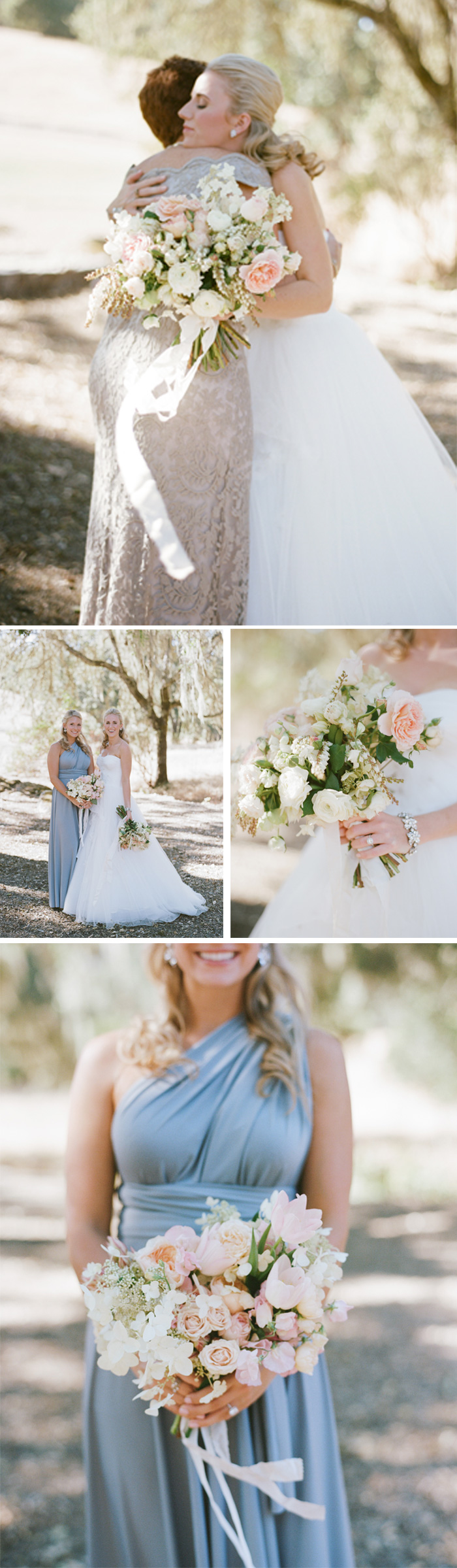 SylvieGIl-Film-Wedding-Photography-Napa-Sonoma-California-Wedding gown- pastel bouquet
