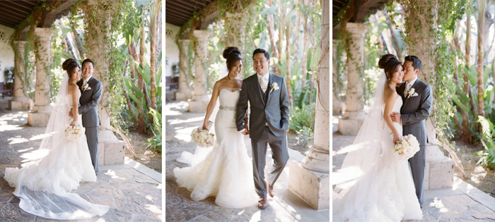 Sylvie-Gil-Film-Wedding-Photography-Shady Canyon- Wedding gown- wedding suit- white bouquet