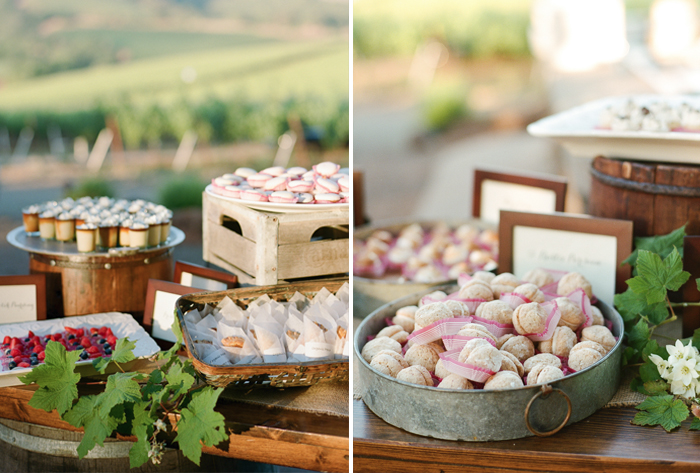 Sylvie-Gil-film-destination-photography-Kunde-winery-Napa-Valley-elegant-shabby-chic-dessert-trays-rustic-metal-wood