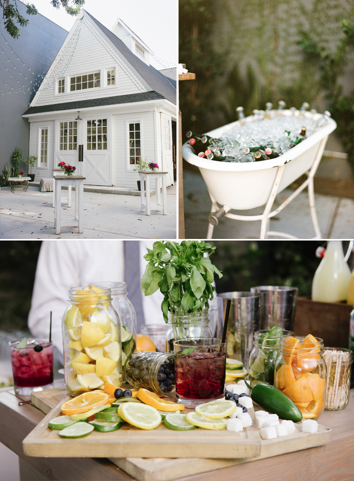 Sylvie-Gil-Lombardi-House-LosAngeles-colorful-wedding-outdoor-reception-white-barn-bar-drinks