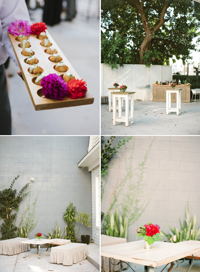 Sylvie-Gil-Lombardi-House-LosAngeles-colorful-wedding-outdoor-reception-white-barn-hors-d'oeuvres