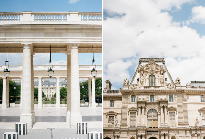 Photographs of the Louvre and other areas of Paris by Sylvie Gil