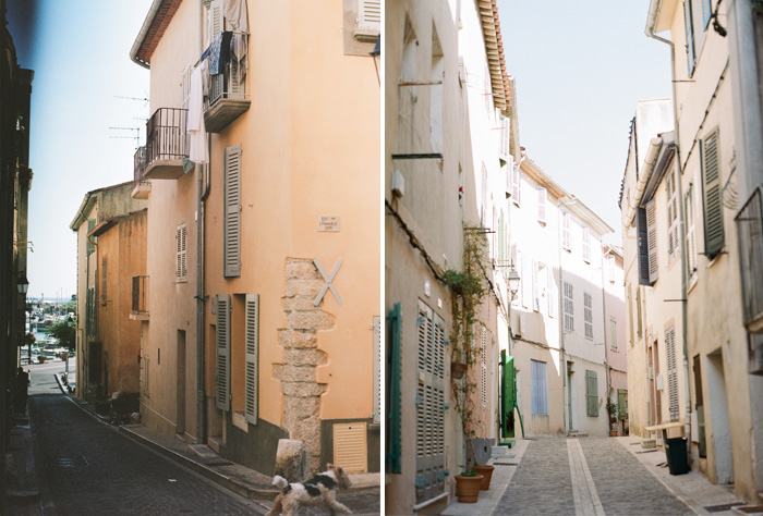 Two alleyways photographed in Provence, France; photo by Sylvie Gil