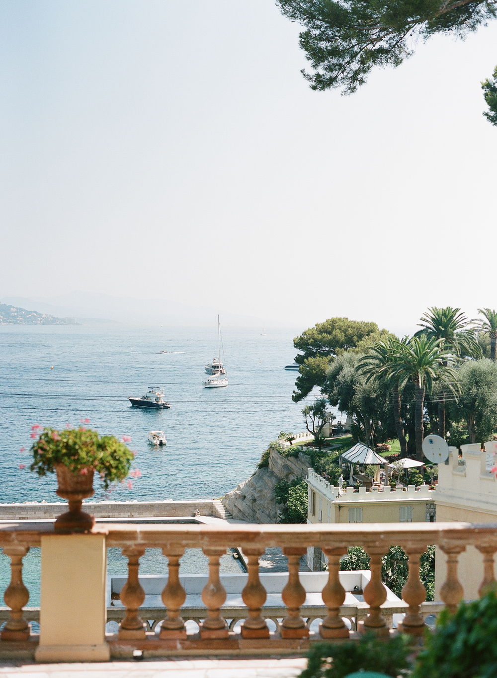 A balcony view of the French Riviera; photo by Sylvie Gil