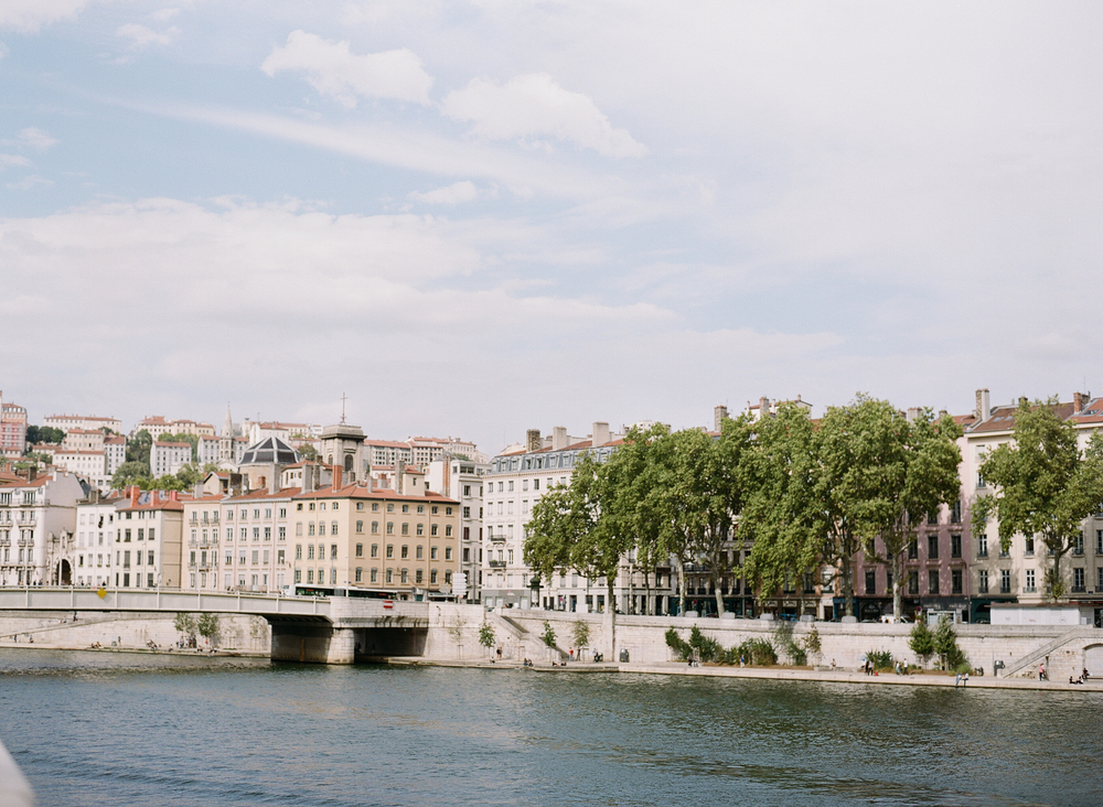 "A view of Lyon, the ""Paris of the south"" with the river in the foreground; photo by Sylvie Gil"