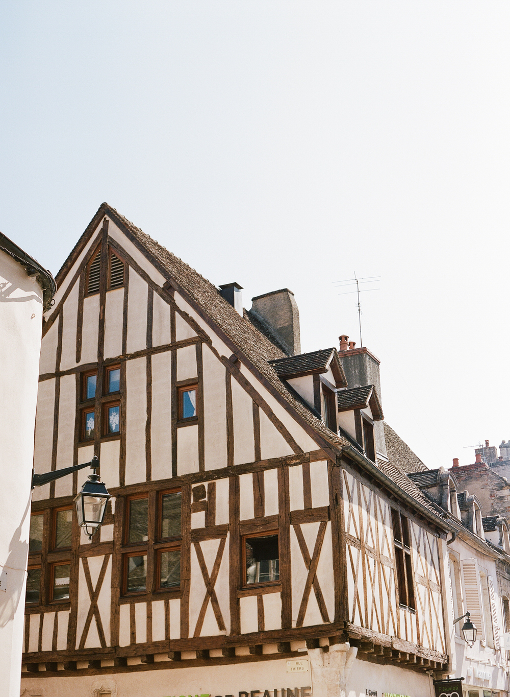 Classic Burgundy architecture shot in Lyon; photo by Sylvie Gil