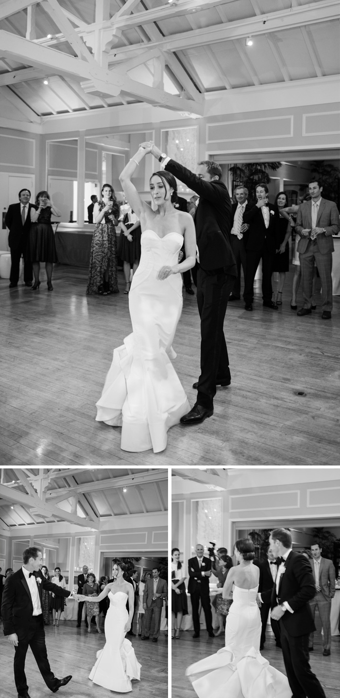 The bride and groom take their first dance; photo by Sylvie Gil